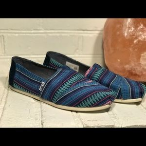 New With Tags Toms Stripe Alpargata Slip-Ons